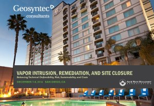 Geosyntec to Present at A&WMA Specialty Conference on Vapor Intrusion, Remediation, and Site Closure