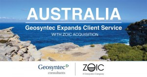 Geosyntec Expands Client Service in Australia with Zoic Acquisition