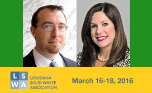 Valerie Mayhall and Raphael Siebenmann at the Louisiana Solid Waste Association Conference