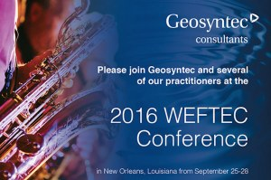 Geosyntec to Present at the WEFTEC 2016 Conference