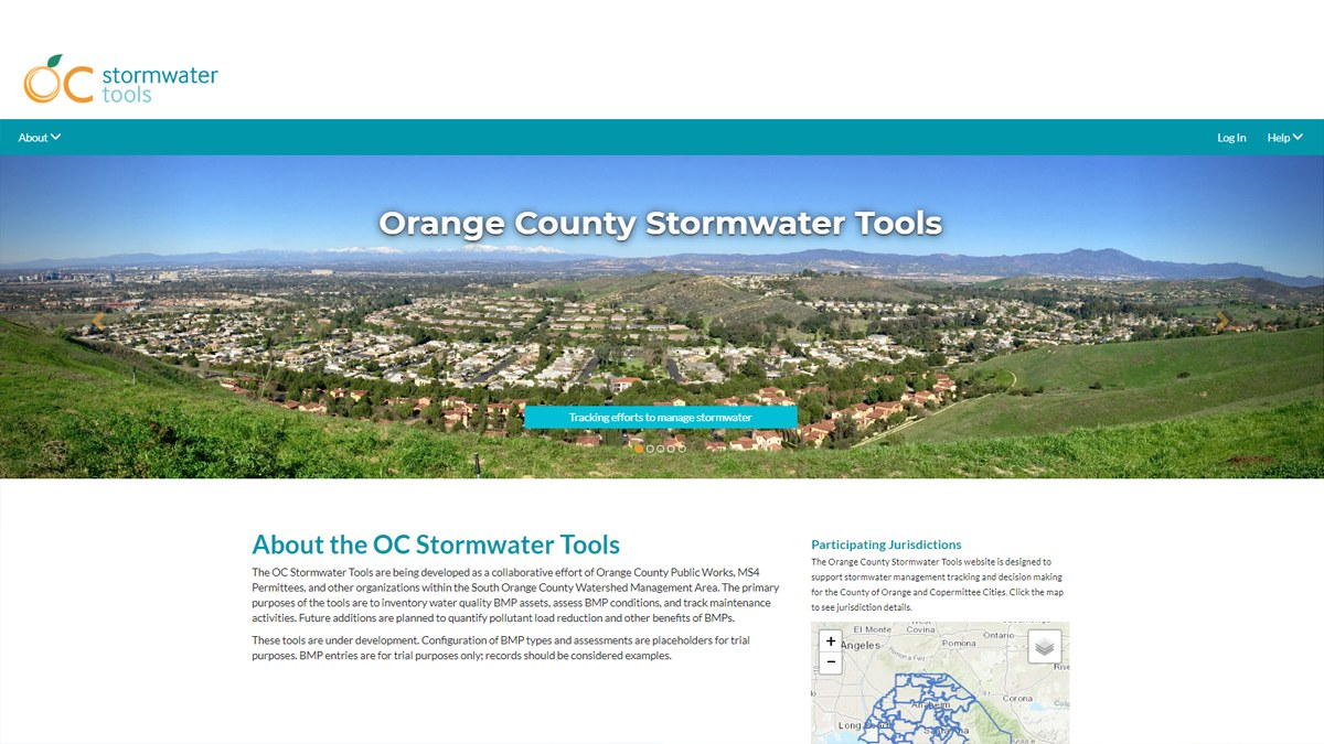 OC Stormwater Tools: A Collaborative, Open-Source Web-App to Support the Lifecycle of Watershed Plan Implementation. Part of a Panel on Open Source Software Development.