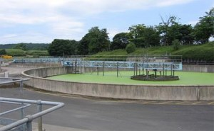 Modeling of Humus Tanks for a Sewage Treatment Facility in England