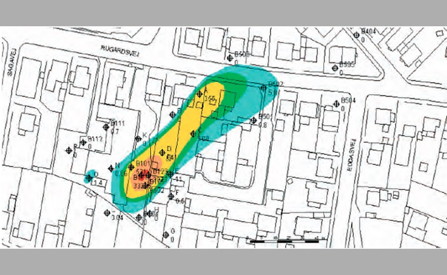 Geosyntec co-authored the first guidance manual in Scandinavia for the use of bioremediation to treat chlorinated solvents in groundwater, like this plume under a residential neighborhood.