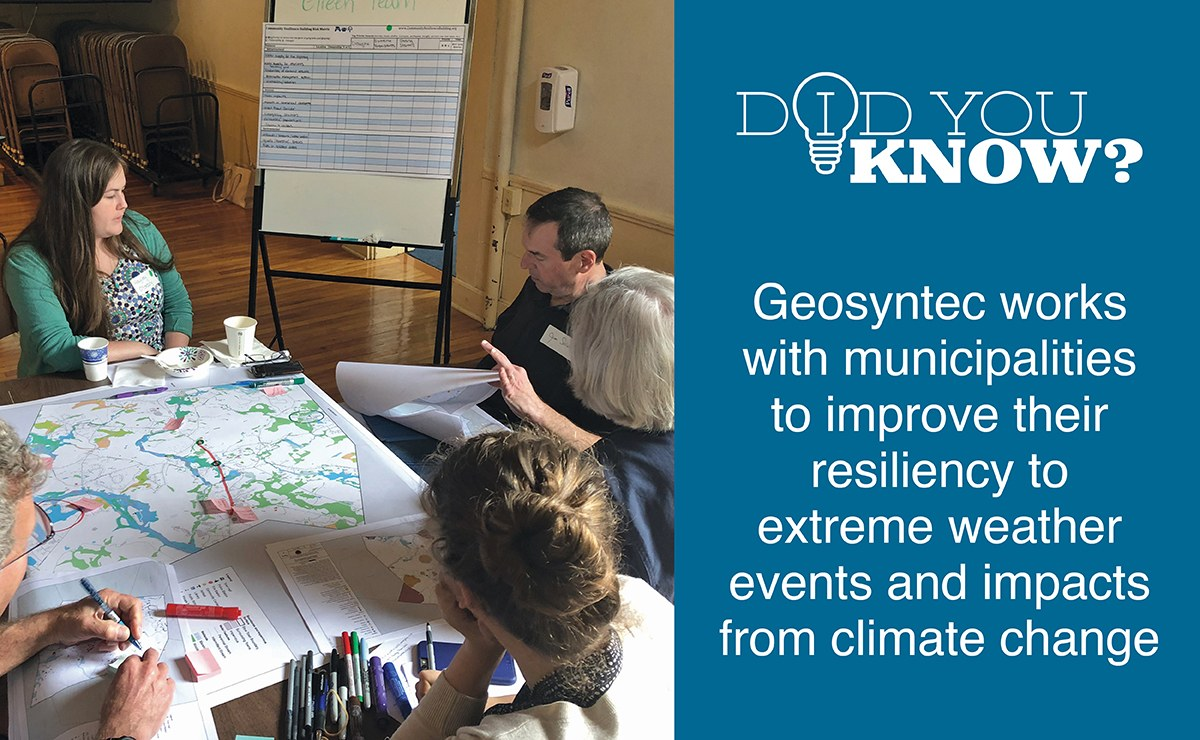 The Geosyntec team developed several recommendations to help the Town of Stow plan for and minimize the potential impacts of climate change.