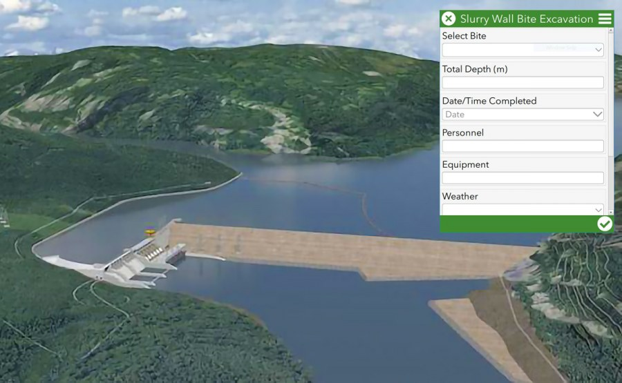 Site C Dam Compilation and Visualization Grouting and D-Wall Panel Data
