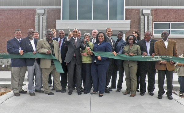 Ribbon cutting ceremony for the LFG to RNG Facility.