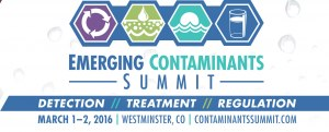 Geosyntec Sponsors Emerging Contaminants Summit March 1-2, 2016 - VIP discount for client registration