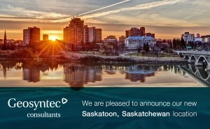 Geosyntec Announces New Office Location in Saskatoon, Canada