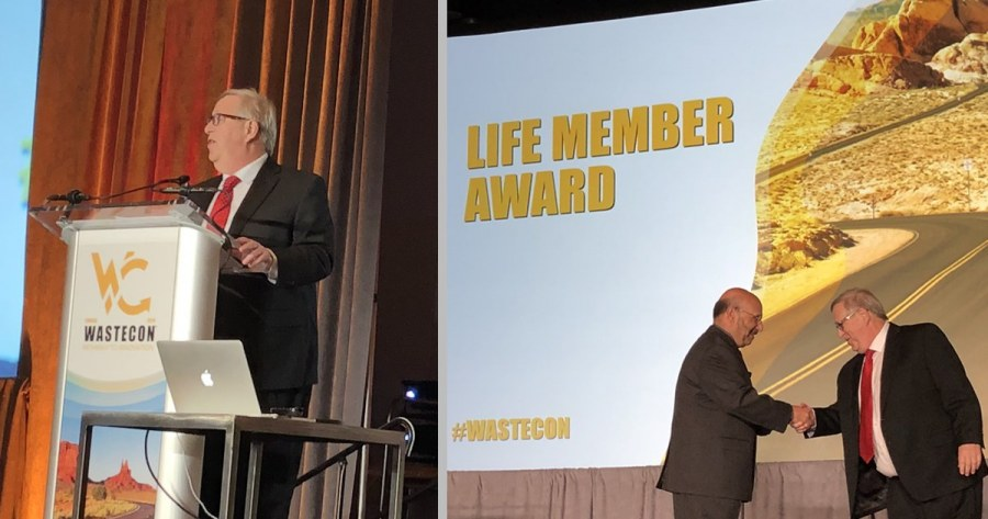 Marc Rogoff Receives SWANA's Life Member Award